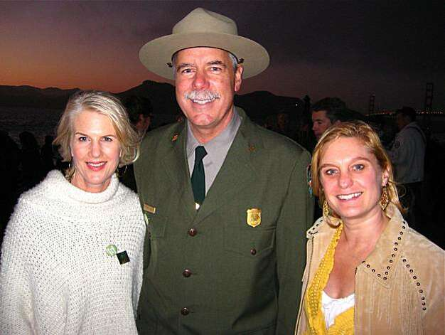 Golden Gate National Parks Superintendent Frank Dean with Trails Dinner co-chairs Catherine Bradford (left) and Jessica Galloway. October 2010. By Catherine Bigelow. Photo: Catherine Bigelow, Special To The Chronicle