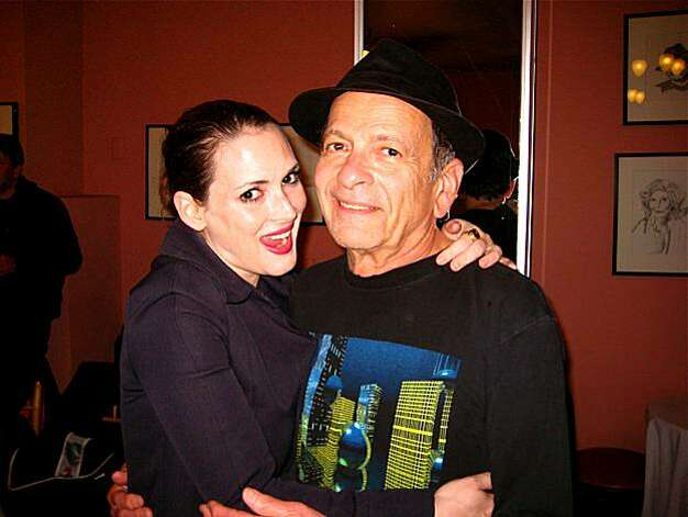 Actress Winona Ryder and her dad, Michael Horowitz at the Litquake Barbary Coast Award. October 2010. By Catherine Bigelow. Photo: Catherine Bigelow, Special To The Chronicle