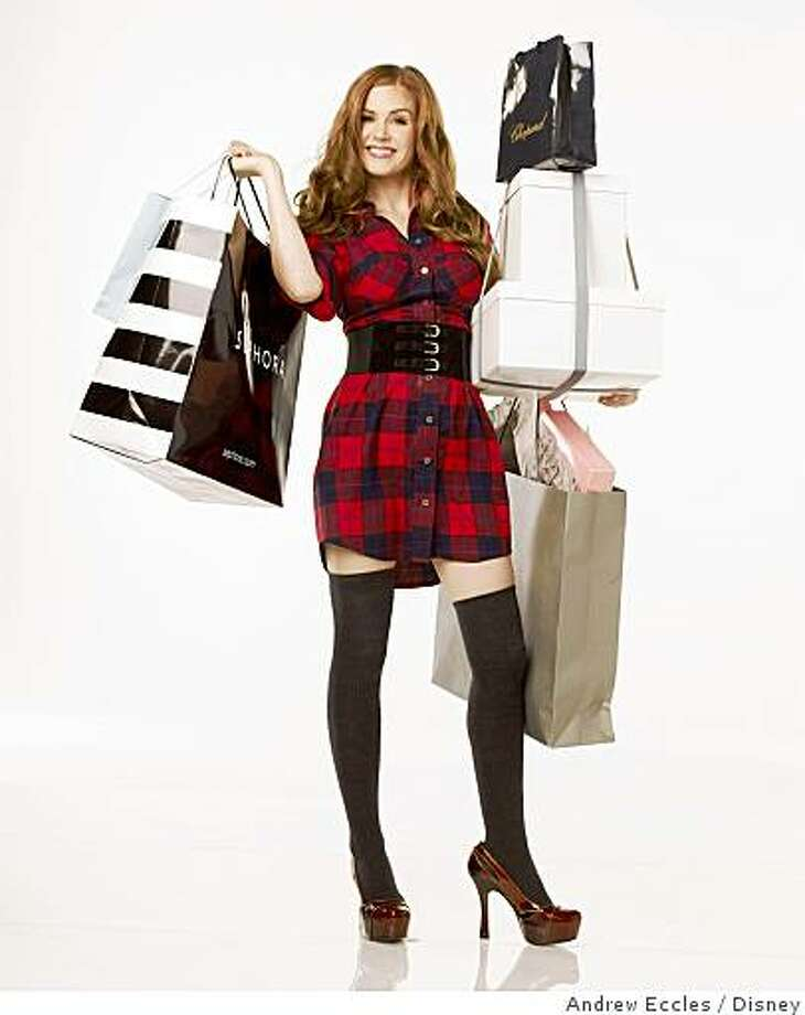 "Isla Fisher dressed by Patricia Field in ""Confessions of a Shopaholic.''""CONFESSIONS OF A SHOPAHOLIC""Isla FisherPh: Andrew Eccles� Touchstone Pictures and Jerry Bruckheimer, Inc.  All Rights Reserved. Photo: Andrew Eccles, Disney"