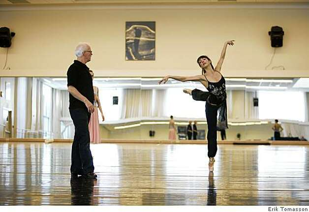 "Helgi Tomasson and Lorena Feijoo rehearse Tomasson's ""Swan Lake."" Photo: Erik Tomasson"