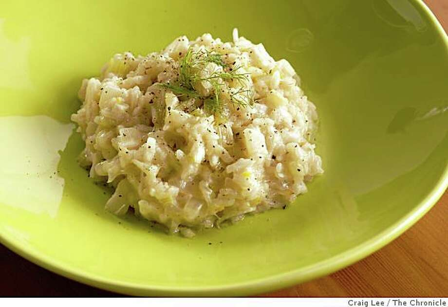 Fennel Risotto in San Francisco, Calif., on February 5, 2009. Food styled by Cindy Lee. Photo: Craig Lee, The Chronicle