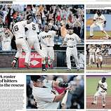 "San Francisco Chronicle's ""Giants Clinch"" Extra, Pages 4 & 5."