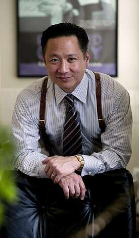 "San Francisco Public Defender Jeff Adachi stands in his in San Francisco, Calif., office on Friday, Feb. 20, 2009. Adachi is the producer of ""You Don't Know Jack: The Story of Jack Soo"", which will be featured in the 2009 San Francisco International Asian American Film Festival. Photo: Kim Komenich, The Chronicle"