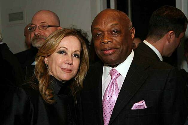 Sophie Azouaou and former San Francisco Mayor Willie Brown. Photo: Jay Cellini