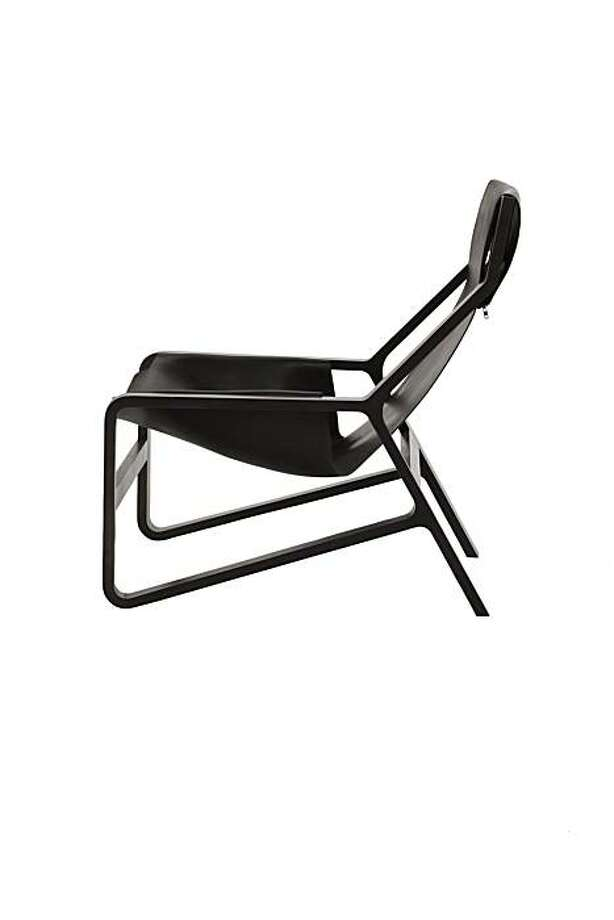blu dot toro lounge chair leather sling wood sfgate