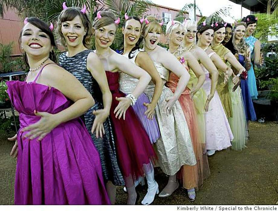 The Devilettes pose in a garden in San Francisco, California, June 21, 2008. Kimberly White/Special to the Chronicle Photo: Kimberly White, Special To The Chronicle