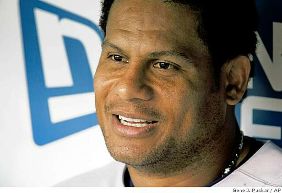 This July 10, 2008 file photo shows New York Yankees' Bobby Abreu before a game against the Pittsburgh Pirates, in Pittsburgh. Photo: Gene J. Puskar, AP