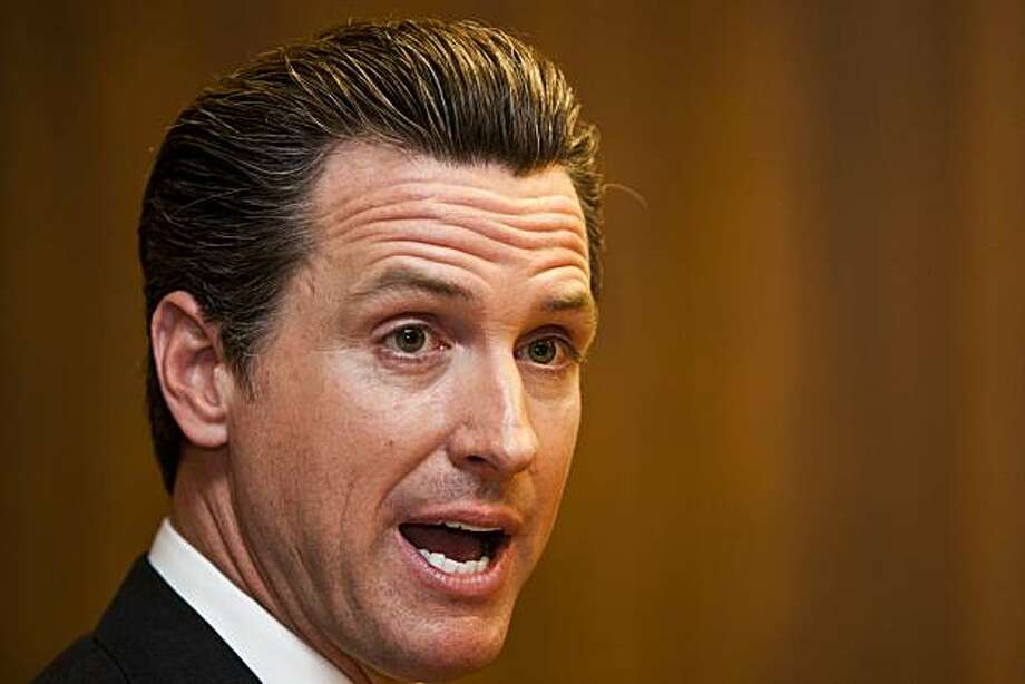 San Francisco Mayor Gavin Newsom, Democratic candidate for lieutenant governor of California, met with the San Francisco Chronicle Editorial Board on Wednesday, Sept. 15, 2010. Photo: Ali Thanawalla, SFGate