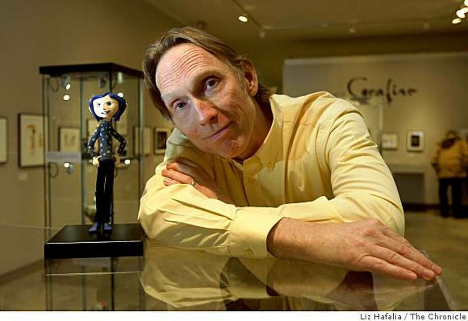 """Henry Selick, director of """"Coraline"""" , a 3-D stop-motion feature film, at his exhibition in the Cartoon Art museum in San Francisco  on Jan. 27, 2009. Photo: Liz Hafalia, The Chronicle"""