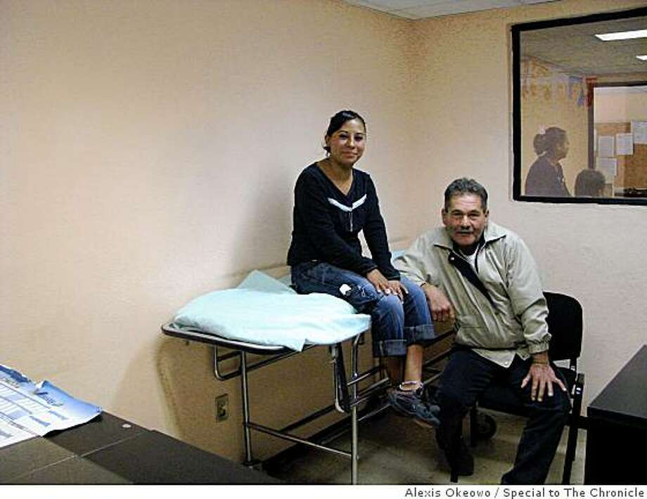 Alejandra Gonzales and Ulises Cavazos, two drug addicts in rehab at the Torres de Potrero Center of Social Integration and Assistance in Mexico City. Photo: Alexis Okeowo, Special To The Chronicle