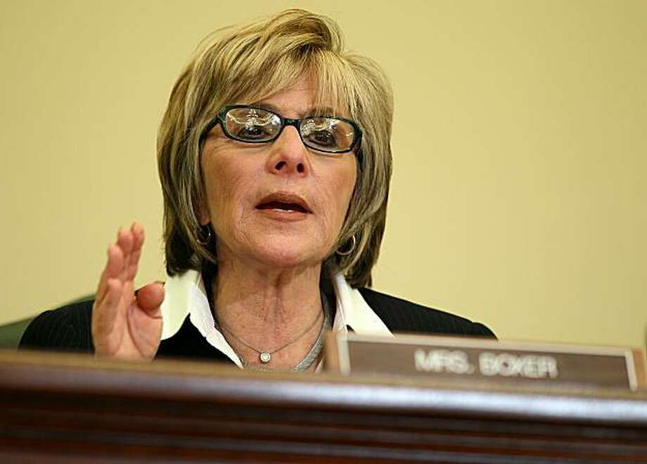 WASHINGTON - SEPTEMBER 28:  U.S. Sen. Barbara Boxer (D-CA) speaks during a hearing before the Senate Commerce, Science and Transportation Committee September 28, 2010 on Capitol Hill in Washington, DC. The hearing was to examine the nation's pipeline safety in the wake of the pipeline explosion in San Bruno, California on September 9, 2010. Photo: Alex Wong, Getty Images