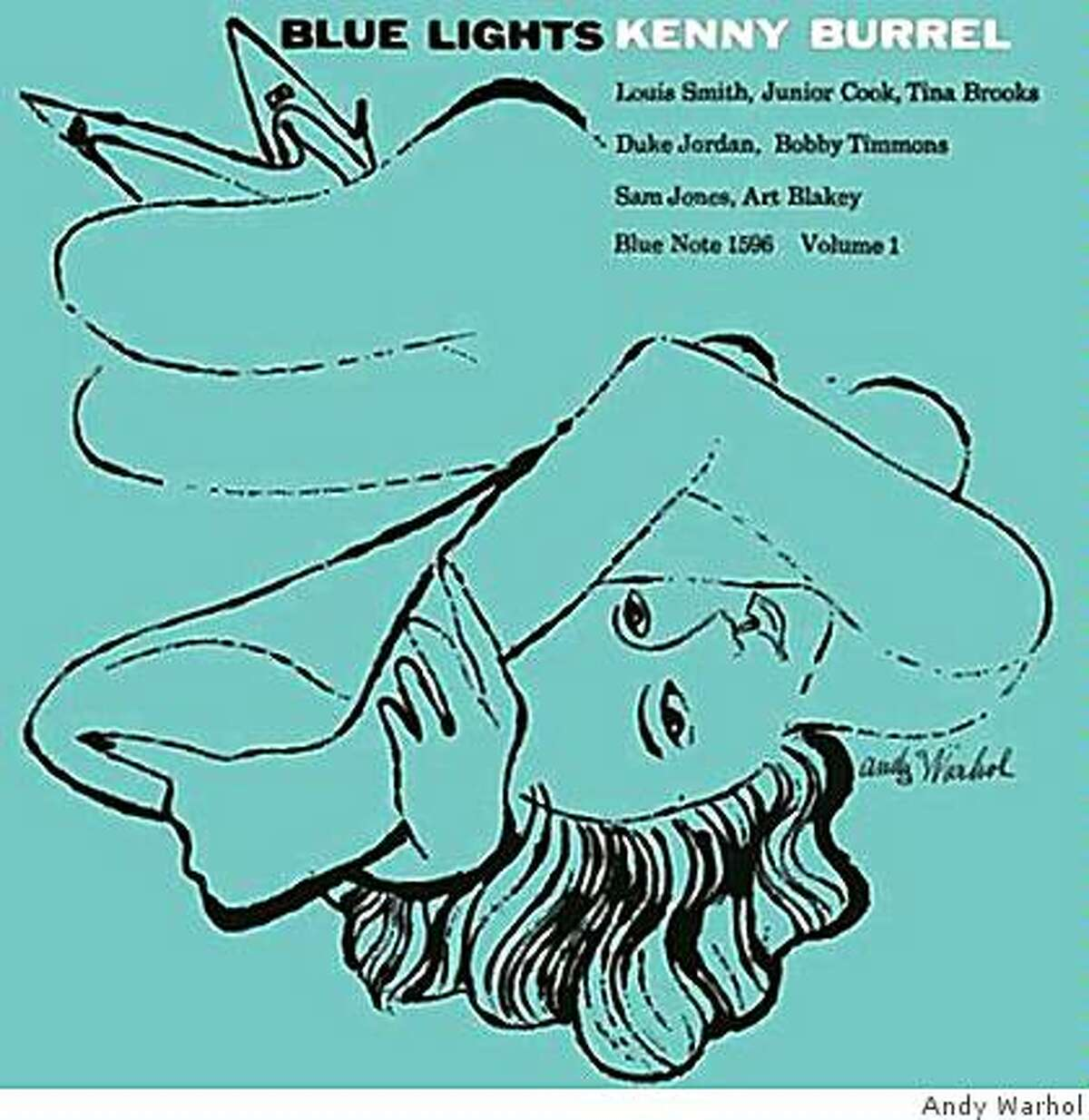 COVER ART:KENNY BURRELL?BLUE LIGHTS VOLUMES 1 AND 2? (1958)ANDY WARHOL