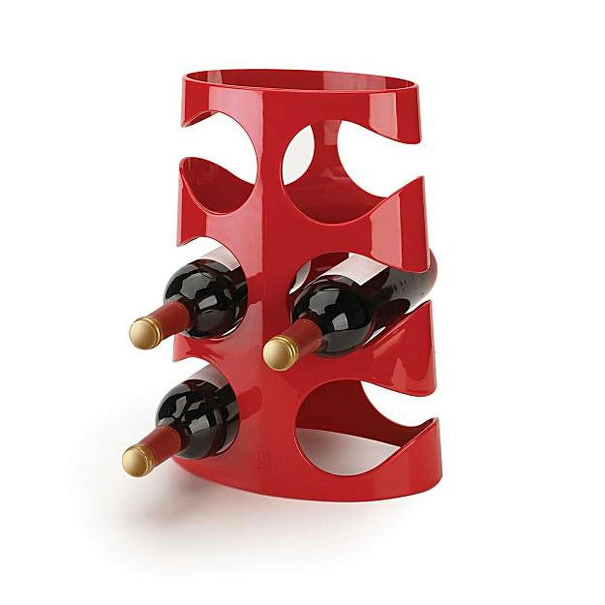 Ran Lerner's new Grapevine wine rack for Umbra,