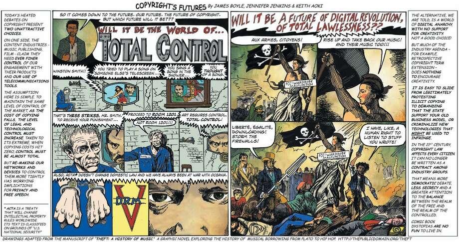 Comic by James Boyle, Jennifer Jenkins & Keith Aoki