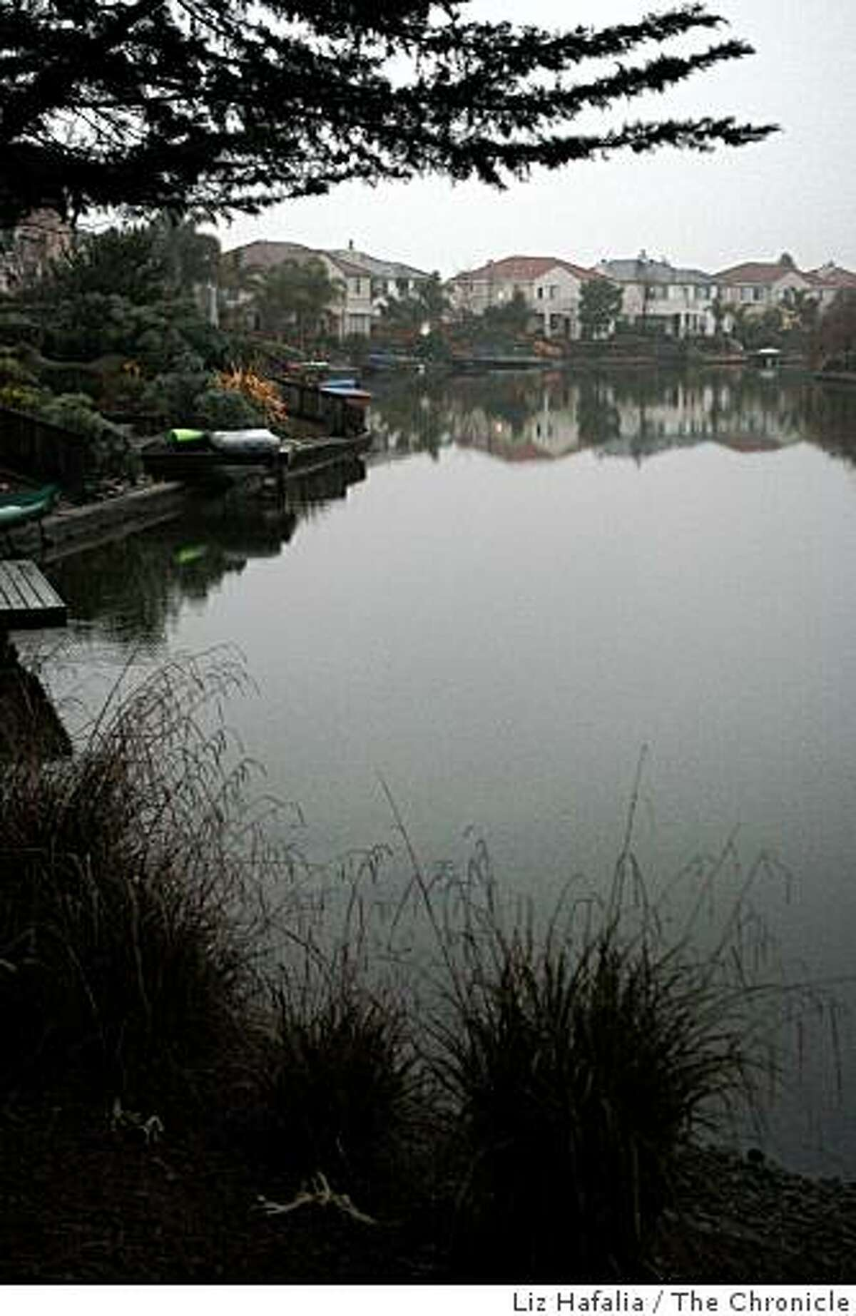 Canal at Harbor Bay in Alameda Calif., on Friday, January 23, 2009.