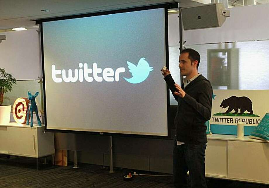 SAN FRANCISCO - SEPTEMBER 14:  Twitter CEO Evan Williams announces the newly revamped Twitter website on September 14, 2010 at Twitter headquarters in San Francisco, California. Twitter launched a new version of the popular social media site in hopes it will be more user friendly. . Photo: Justin Sullivan, Getty Images