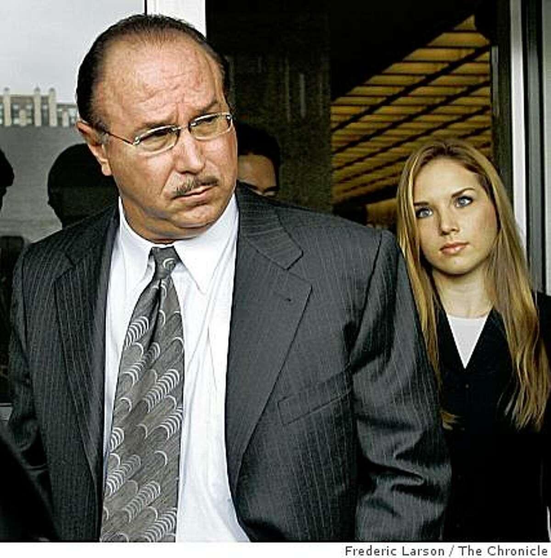 Conte left with his daughter Veronica Ekhardt