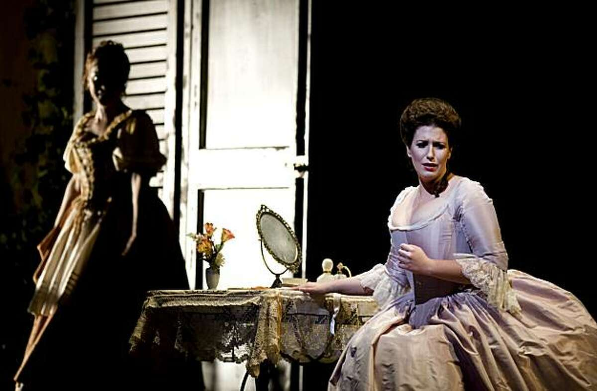 Ellie Dehn playing Countess Almaviva performs as Danielle de Niese, playing