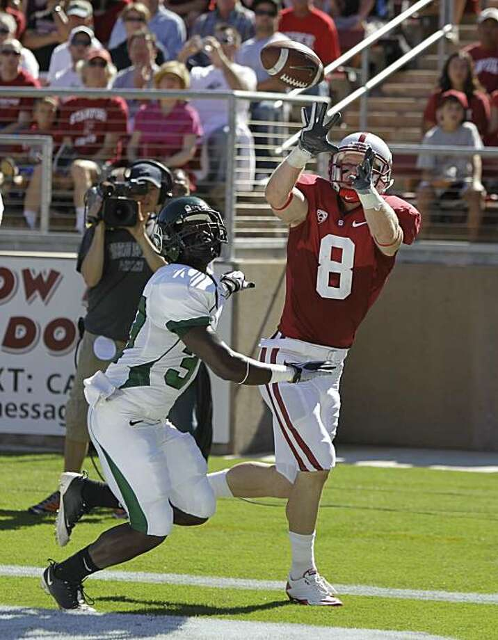 Stanford wide receiver Ryan Whalen (8) of an NCAA college football game in Stanford, Calif., Saturday, Sept. 4, 2010. (AP Photo/Paul Sakuma) Photo: Paul Sakuma, ASSOCIATED PRESS