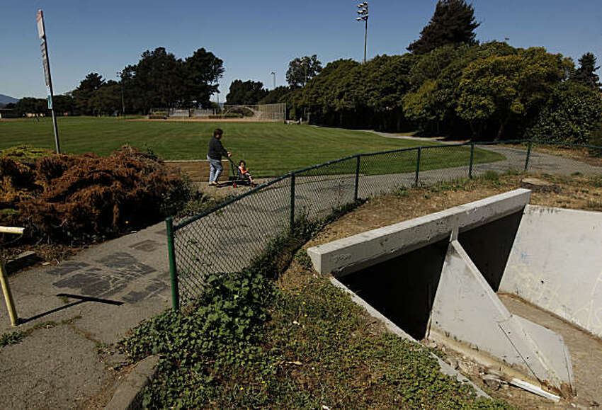 Currently, a culvert carries Wildcat Creek under the baseball field at Davis Park. The City of San Pablo, Calif. has received a grant of $1.8 million to daylight a section of Wildcat Creek which runs under the sports field at Davis Park.