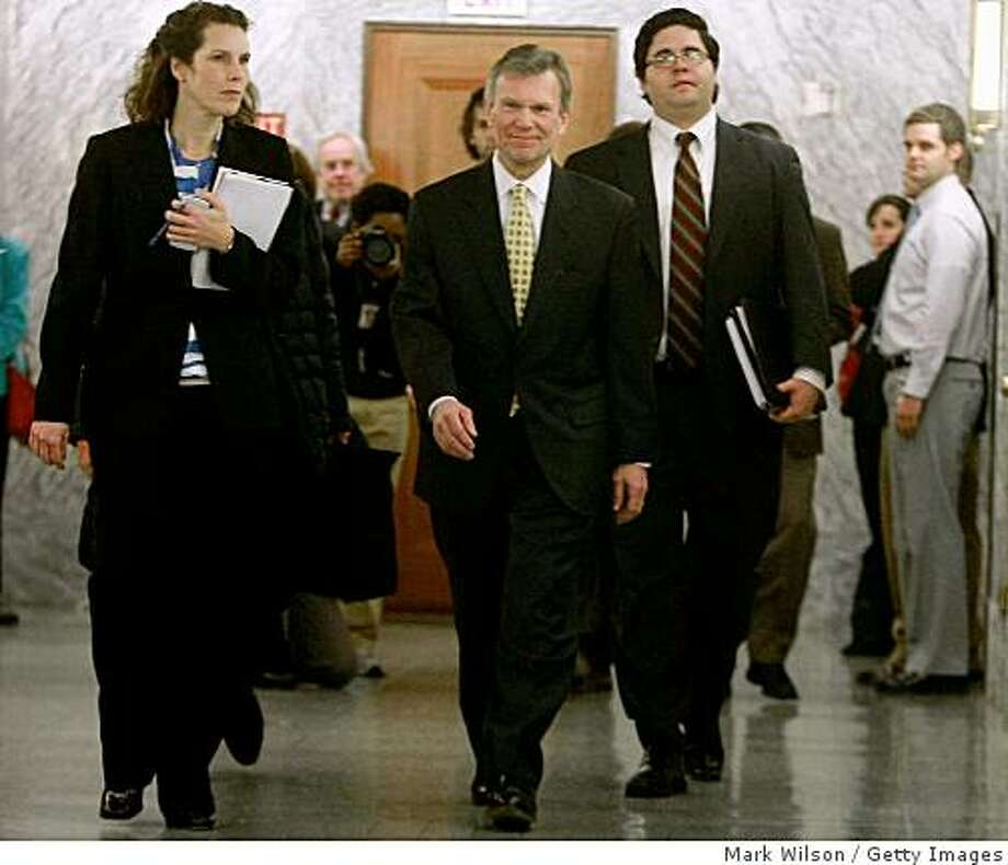 WASHINGTON - FEBRUARY 02:  Former Senator Thomas Daschle (C) (D-SD) arrives for a closed door meeting with Members of the Senate Finance Committee on Capitol Hill on February 2, 2009 in Washington, DC. Daschle, who was nominated by President Brack Obama to be secretary of Health and Human Services secretary, was questioned about $128,000 in errors on his taxes.  (Photo by Mark Wilson/Getty Images) Photo: Mark Wilson, Getty Images