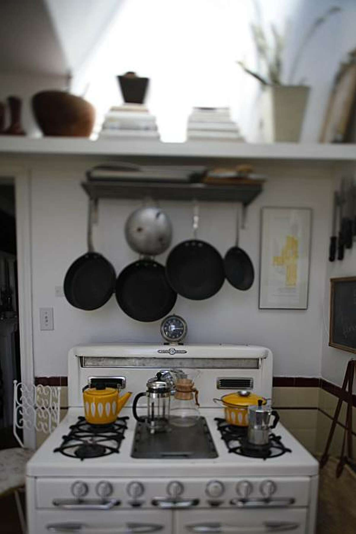 The O'Keefe & Merritt stovetop is seen in the home of SFGirlbyBay blogger Victoria Smith in San Francisco, Calif. on Tuesday August 31, 2010.