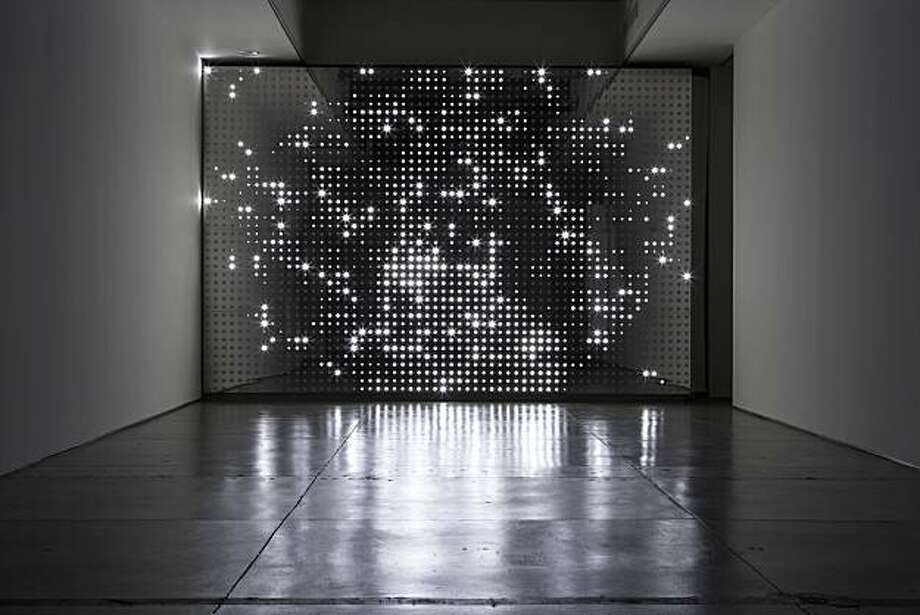 """""""Diamond Sea"""" (2007) LEDs, mirror finish stainless steel, custom software and electronics by Leo Villareal Photo: Unknown, Gering And Lopez Gallery, Nyc"""