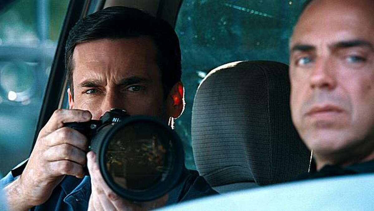 TOWN-FP-0012: (L-r) JON HAMM as FBI Special Agent Adam Frawley and TITUS WELLIVER as Dino Ciampa in Warner Bros. Pictures' and Legendary Pictures' crime drama