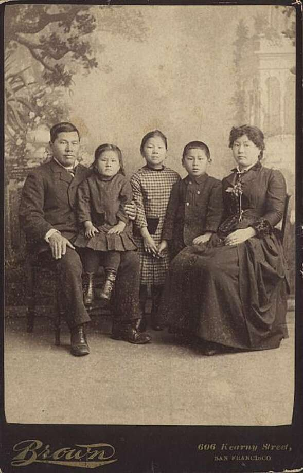 "The Tape family, 1884, as seen in the book ""The Lucky Ones"" by Mae Ngai... left to right: joseph, emily, mamie, frank, mary Photo: Jack Kim Collection"