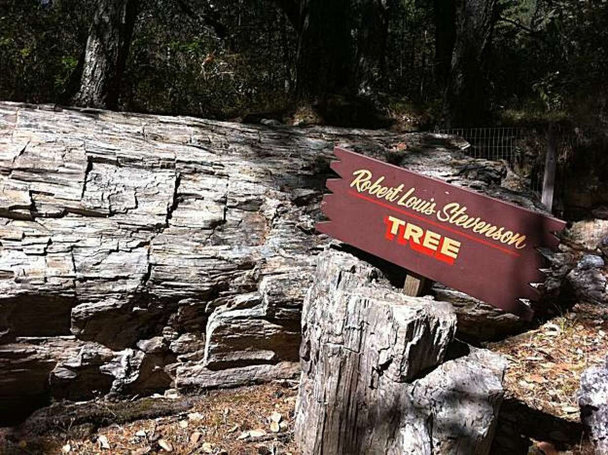 The petrified log named in honor of Robert Louis Stevenson, who visited the Petrified Forest near Calistoga in the late 1800s.
