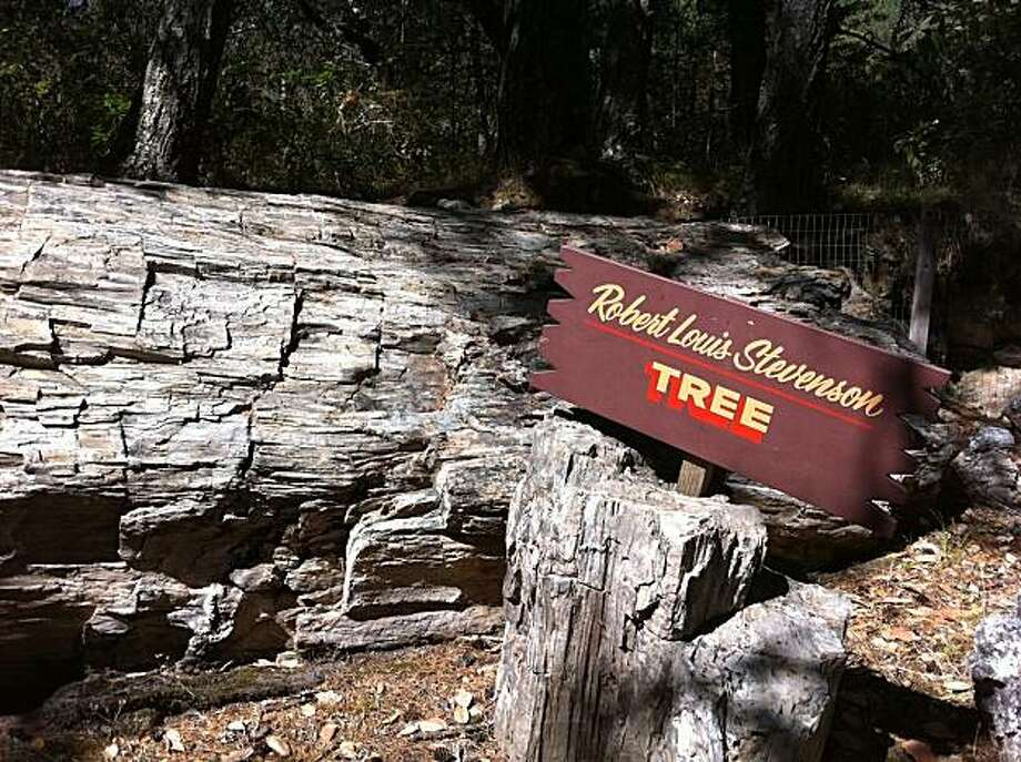 The petrified log named in honor of Robert Louis Stevenson, who visited the Petrified Forest near Calistoga in the late 1800s. Photo: Spud Hilton, The Chronicle