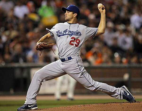 Ted Lilly started for the Dodgers. The San Francisco Giants played the Los Angeles Dodgers at AT&T Park in San Francisco, Calif., on Thursday, September 16, 2010, defeating the Dodgers 10-2. Photo: Carlos Avila Gonzalez, The Chronicle