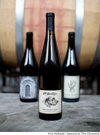 Winemaker David O'Reilly produces many different wines in the Northwest including this Pinot Gris. Photographed Saturday, January 24, 2009 at Sunnyside Cream Winery, Sunnyside, WA. Photo: Kris Holland, Special To The Chronicle
