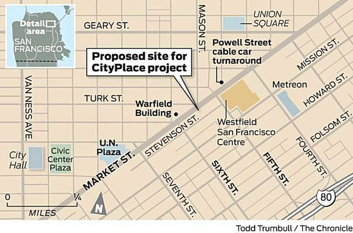 Proposed location for CityPlace
