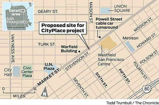 Proposed location for CityPlace Photo: Todd Trumbull, The Chronicle