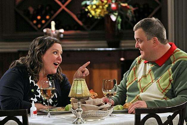 """First Date"" -- When Molly (Melissa McCarthy)gets a cold before her first date with Mike (Billy Gardell), she takes some cold medication to help her feel better, with disastrous results, on MIKE & MOLLY, Monday, Sept. 27th (9:30-10:00 PM, ET/PT) on the CBS Television Network Photo: Robert Voets, CBS"