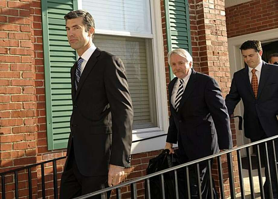 Craigslist CEO James Buckmaster, left, followed by attorneys, arrives to testify in the civil trial between eBay and Craigslist in Delaware's Chancery Court Monday, Dec 7, 2009, in Georgetown, Del. (AP Photo/Bradley C Bower) Photo: Bradley C Bower, AP
