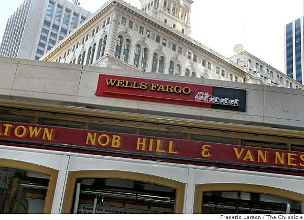 Wells Fargo reported a $2.83 billion loss for the fourth quarter.Wells Fargo Bank on California Street in San Francisco, Calif., October 14, 2008.