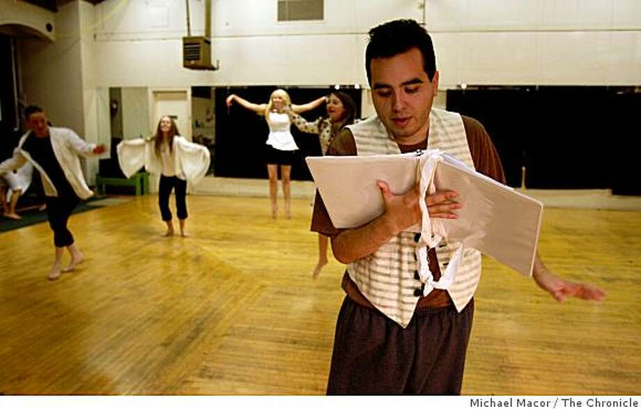 Marsh Youth Theater production of Fears Of Your Life, in rehersals with 20 year-old, Enrigue Rodriguez, reading a piece in the scene  Fear #20, on Thursday Jan. 15, 2009, in San Francisco, Calif. Photo: Michael Macor, The Chronicle