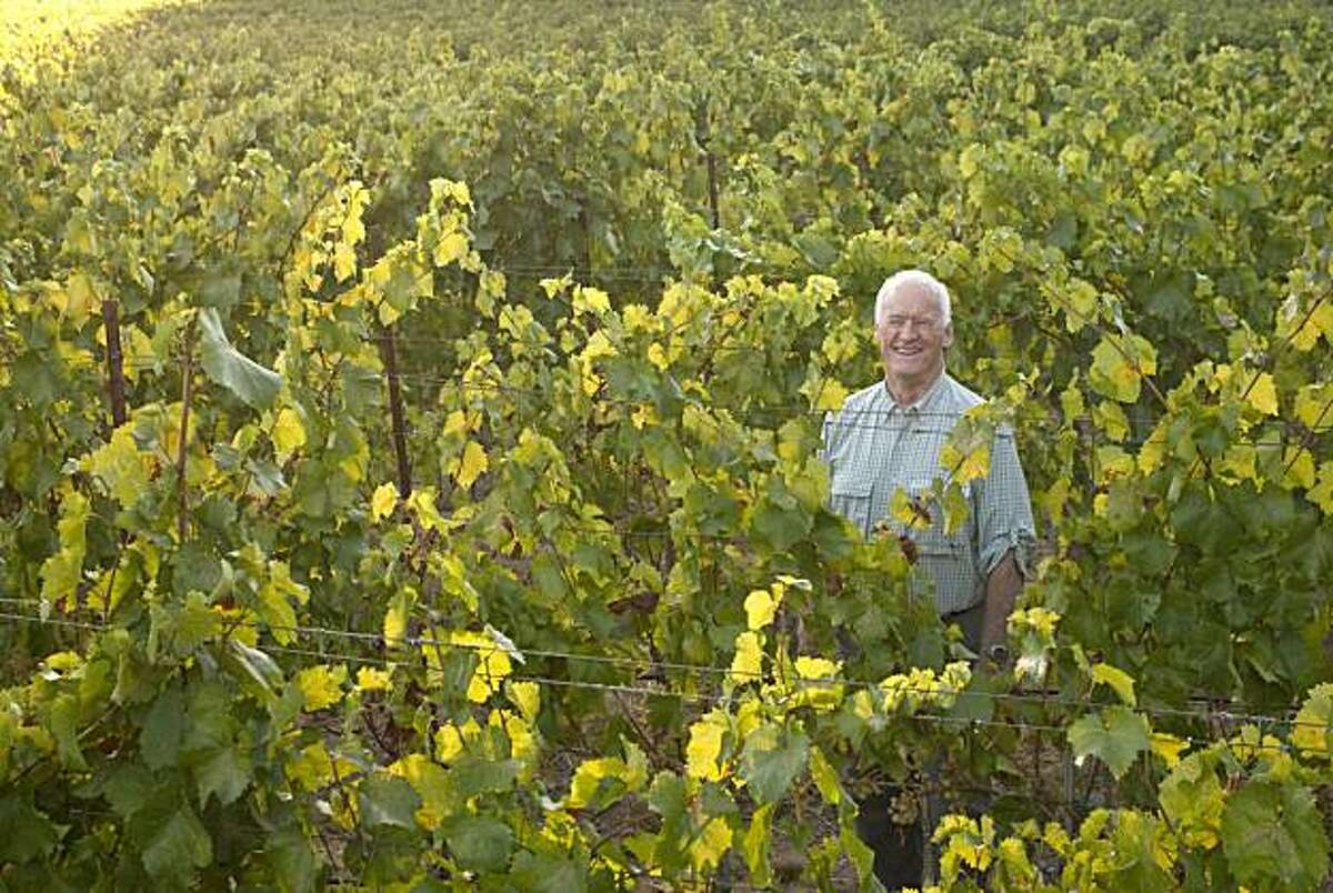 George Vare stands in his Napa vineyard Tuesday, September 7, 2010, where he grows an Ribolla Gialla, an Italian grape varietal.
