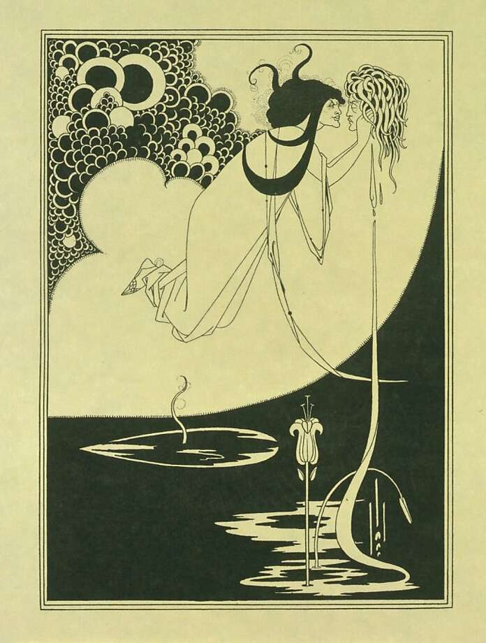 "Aubrey Beardsley's ""The Climax, Salome,"" 1894 print. V&A Images. Part of ""The Cult of Beauty: The Victorian AVant-Garde, 1960-1900,"" Feb. 18-June 17 at the Legion of Honor. Photo: Legion Of Honor"
