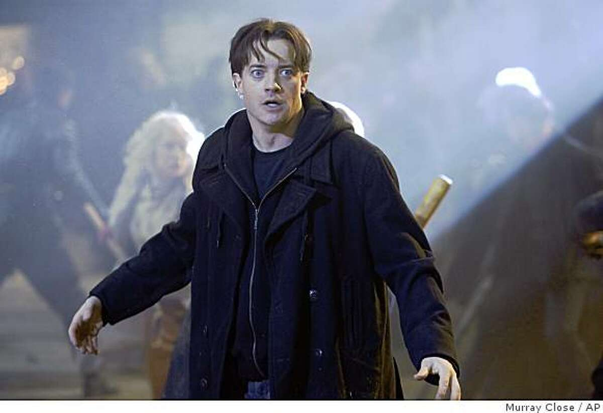 In this image released by Warner Bros., Brendan Fraser is shown in a scene from