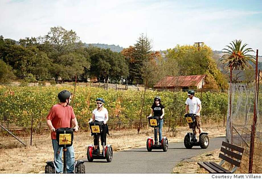 Segway riding in the Wine Country. Photo: Courtesy Matt Villano