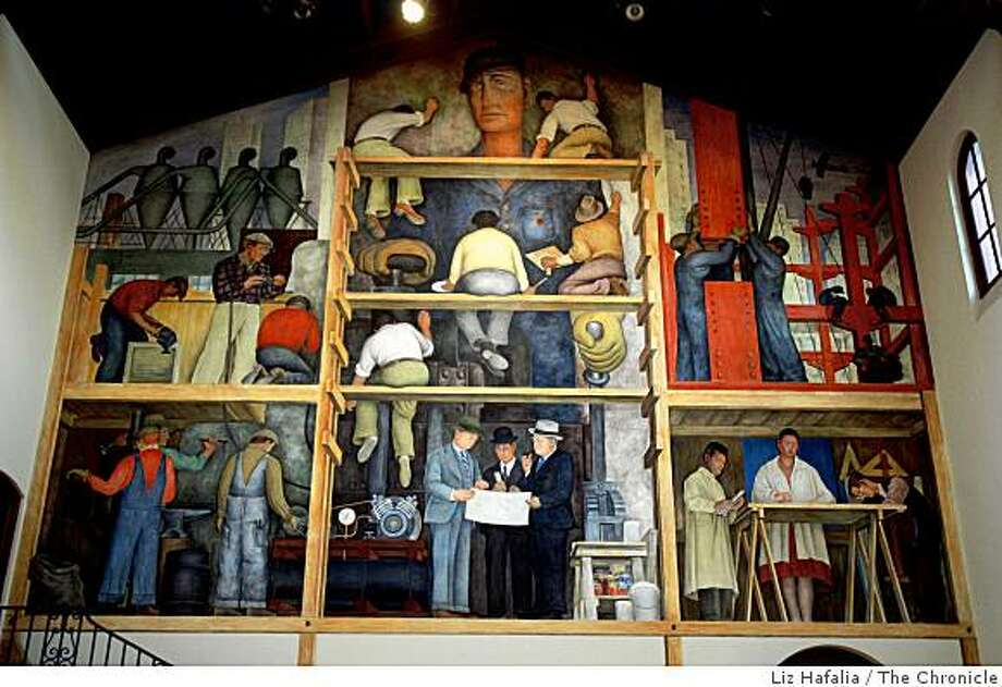 The Diego Rivera Mural at the San Francisco Art Institute in Russian Hill in San Francisco, Calif., on Thursday, January 15, 2009. Photo: Liz Hafalia, The Chronicle