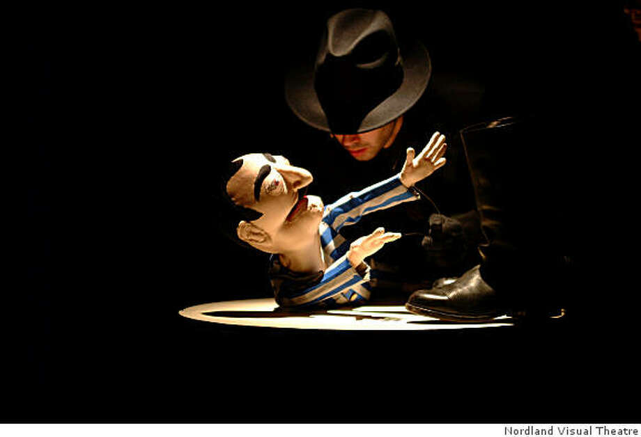 """The title character puppet faces Nazi repression in Wakka Wakka Productions' """"Fabrik: The Legend of M. Rabinowitz"""" at Traveling Jewish Theatre Photo: Nordland Visual Theatre"""