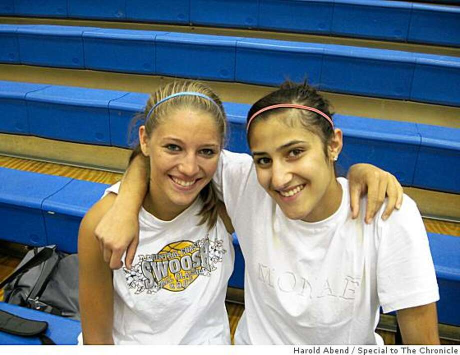 Basketball players Niveen Rasheed of Monte Vista-Danville and Lauren Polansky of Branson-Ross. 2008. Photo: Harold Abend, Special To The Chronicle