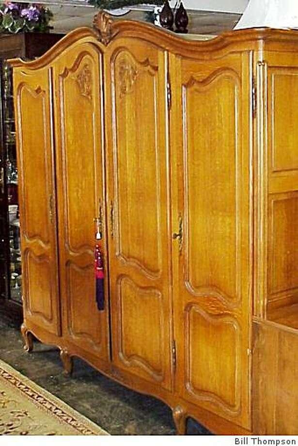 Belgian oak armoire, circa 1910, $2,700, Hilton House and Design, Orinda Photo: Bill Thompson