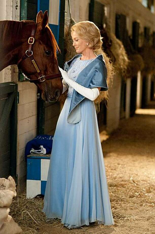 "Diane Lane with either Longshot Max or Trolly Boy in ""Secretariat."" Photo: Disney"