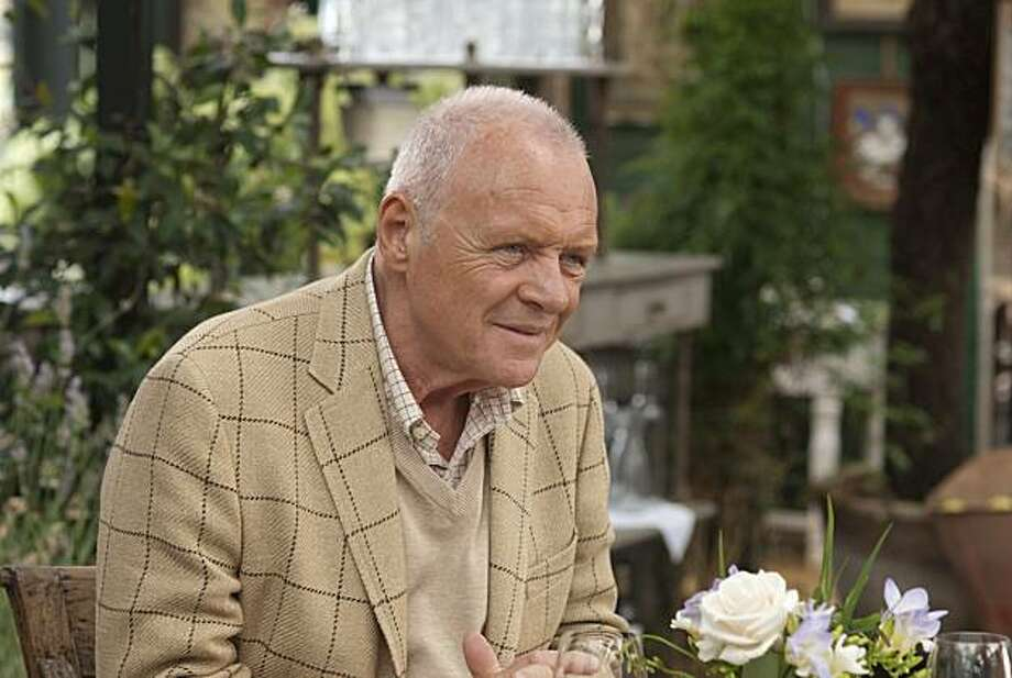"Anthony Hopkins in ""You Will Meet a Tall Dark Stranger."" Photo: Keith Hamshere, Sony Pictures Classics"