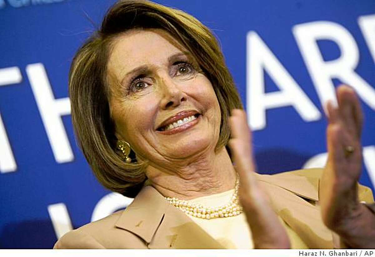 House Speaker Nancy Pelosi of Calif. applauds during a news conference on Capitol Hill in Washington, Wednesday, Jan. 14, 2009, after the House passed State Children's Health Insurance Program (SCHIP) legislation. (AP Photo/Haraz N. Ghanbari)